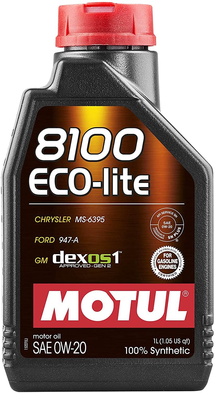 Motul 8100 Eco-lite 0W-20 108534, 1-Liter