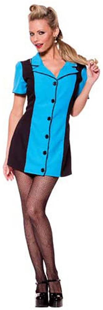Pin UP Girl (Turquoise) Adult Costume - Medium