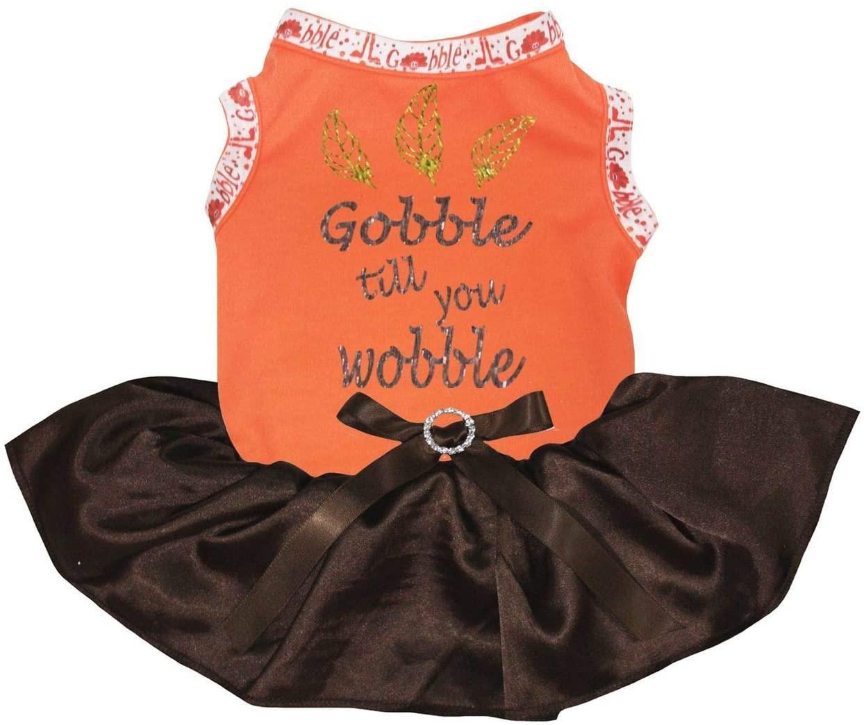 Petitebella Feathers Gobble Till You Wobble Shirt Tutu Puppy Dog Dress