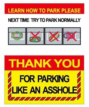 RXBC2011 Thank you for parking Gag Gifts for Bad Parking Notes (Pack of 100)