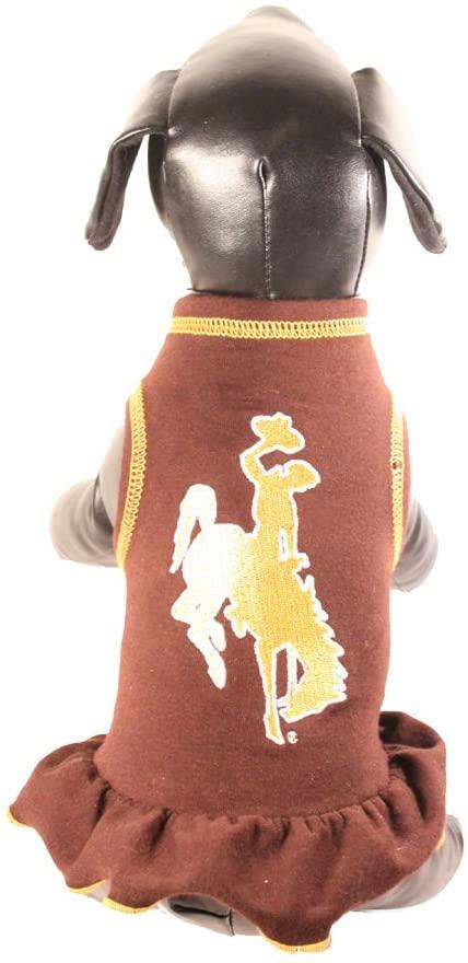 NCAA Wyoming Cowboys Cheerleader Dog Dress, X-Small