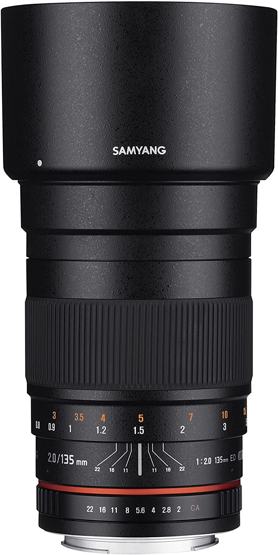 Samyang 135mm f/2.0 ED UMC Telephoto Lens for Sony Alpha A Mount Digital SLR Cameras