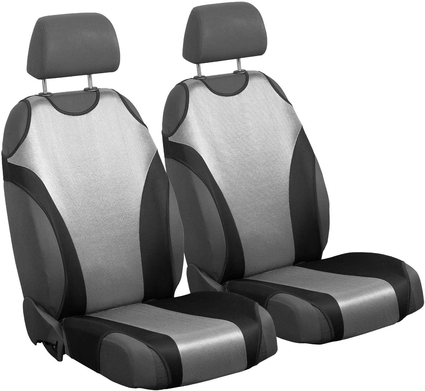 Zakschneider Car Seat Covers for Veloster - Front Seats - Color Premium Silver & Black