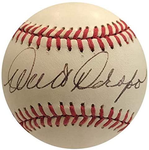 Autographed Walt Dropo Ball - Official American League - Autographed Baseballs