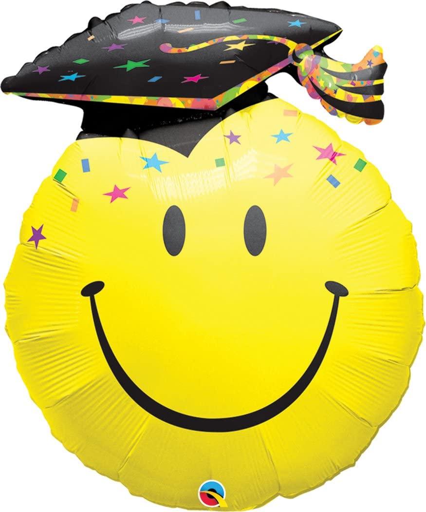 Qualatex 40379 SMILE FACE PARTY GRAD, 36, Multicolored