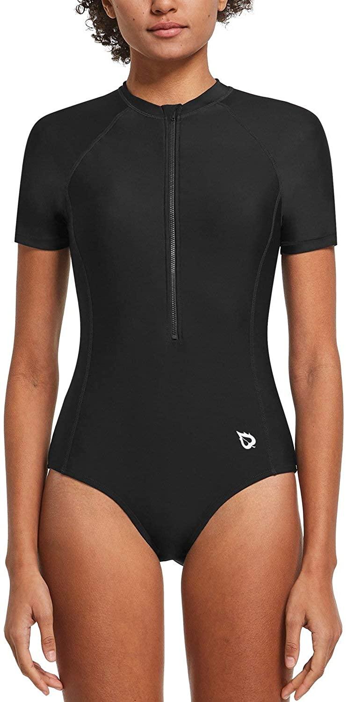 BALEAF Women's Long Sleeve One Piece Sun Protection Rash Guard Rashguard UPF 50+ Wetsuit Swimsuit