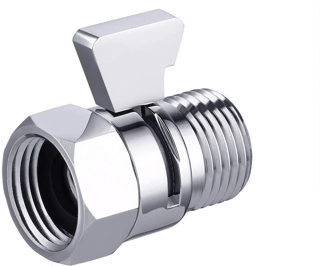 KES Shower Shut Off Valve Brass with Handle Lever Water Flow Control Valve Flow Regulator Polished Chrome, K1140B3-CH-KES