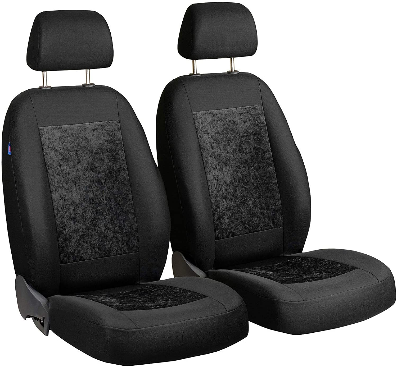 Zakschneider Car seat Covers for Delta - Front Seats - Color Premium Black Velours