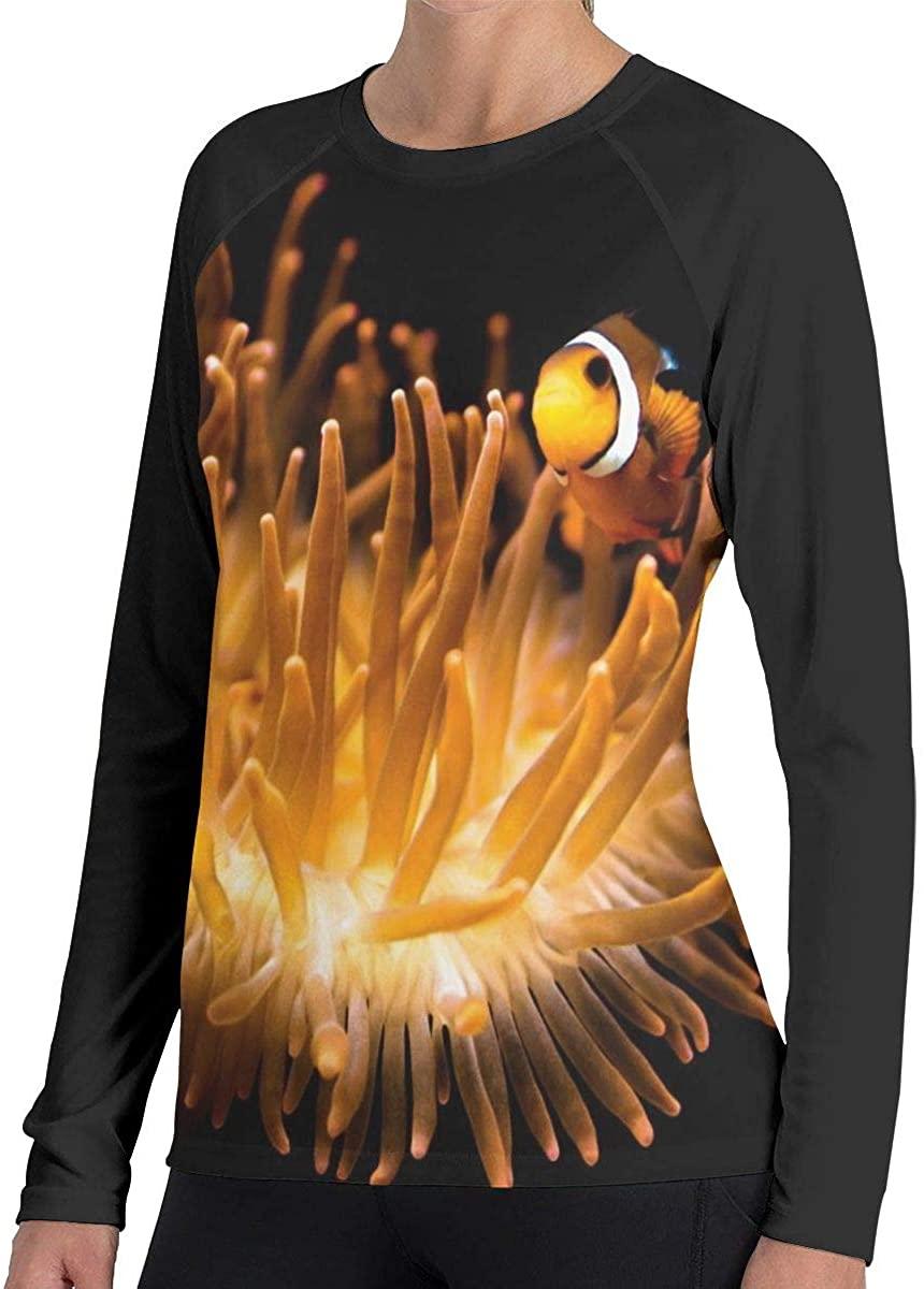 Women's Clown Fish Novelty Long Sleeve Tops Sweatshirt Tee T-Shirt