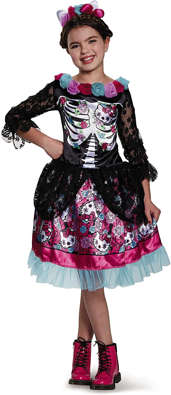 Dia De Los Muertos Hello Kitty Sanrio Costume, X-Large/14-16