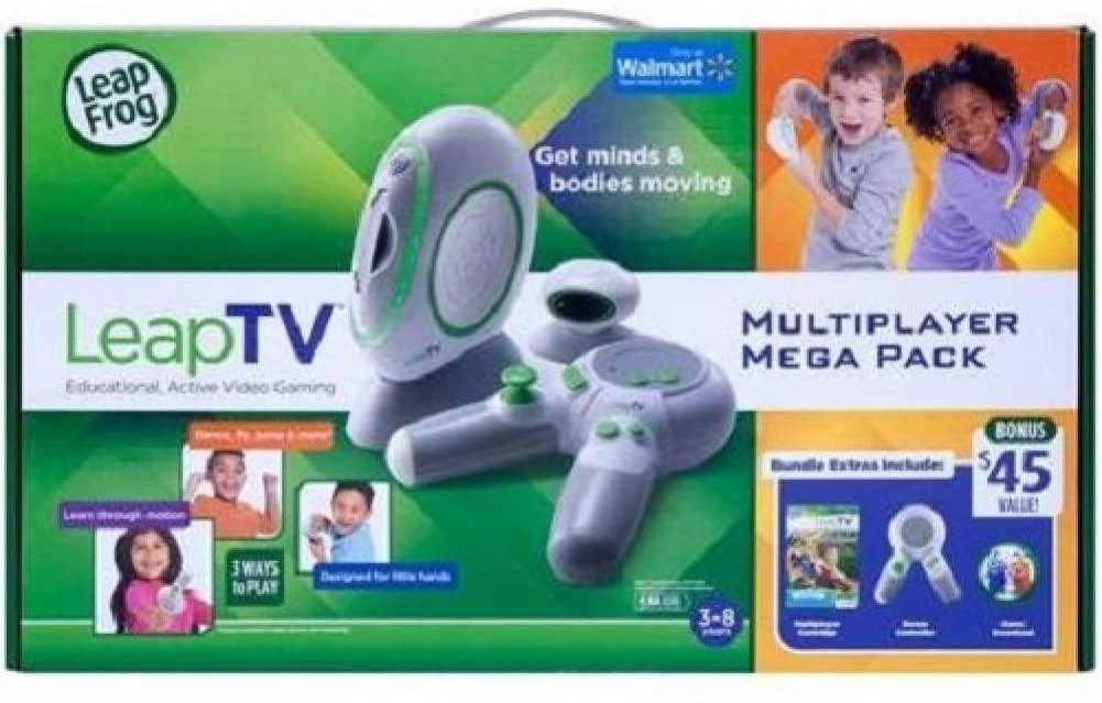 LeapFrog LeapTV Educational Active Video Gaming System Multiplayer Mega Bundle