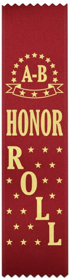 A-B Honor Roll Award Ribbons - 100 Count Bulk Pack