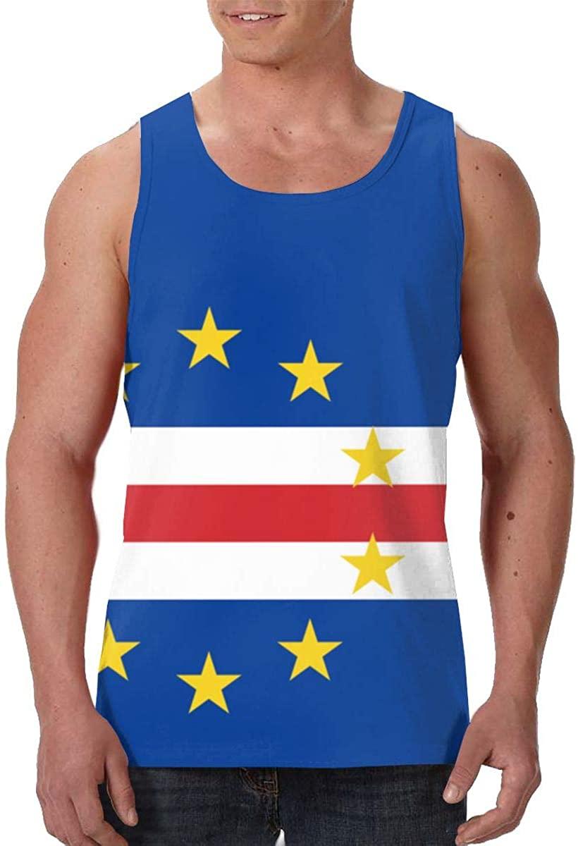 Fengyaojianzhu Flag of Cape Verde Mens Tank Top T-Shirt 3D Printed Sleeveless Vest