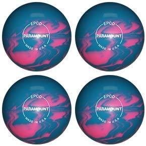 EPCO Candlepin Bowling Ball- Marbleized - Light Blue & Pink - 4 Balls