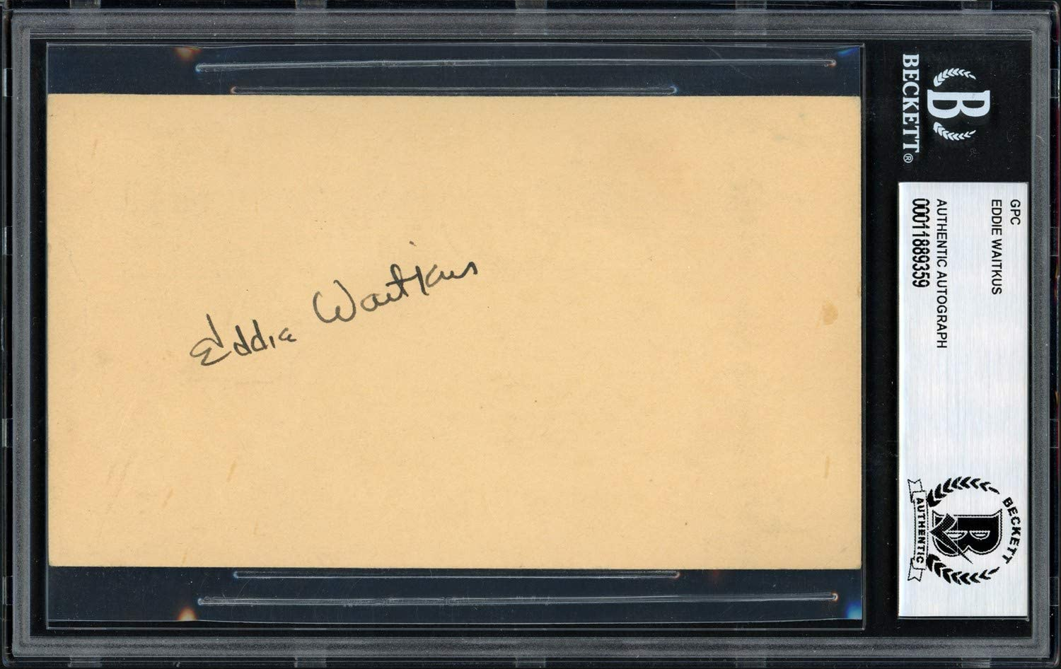 Eddie Waitkus Autographed 3.5x5.5 Government Postcard The Natural Beckett BAS #11889359