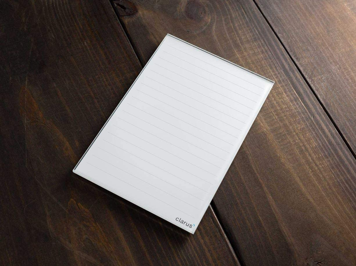 Classic Ruled Mini Glass Dry Erase Notepad Tablet for Business, Desks, Kitchens, Schools