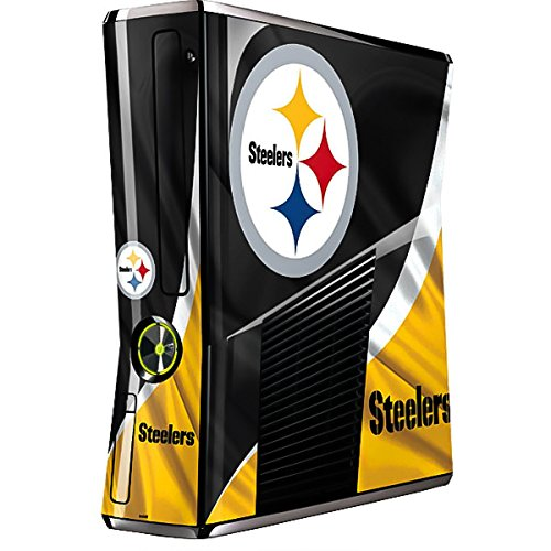 Skinit Decal Gaming Skin for Xbox 360 Slim (2010) - Officially Licensed NFL Pittsburgh Steelers Design