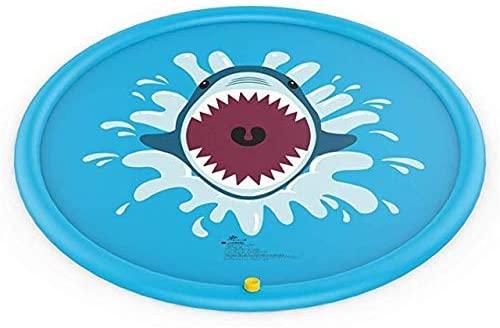 Interesting pattern Splash-proof Mat, Children's Sprinkler Game Pad Inflatable Water Spray Mat Children's Sprinkler Mat Floor Mat Summer Splash-proof Mat for Children, Inflatable Water Spray Mat Super
