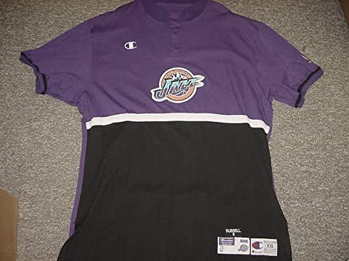 Bryon Russell Utah Jazz 1998-2000 Champion Game Worn Shooting Shirt