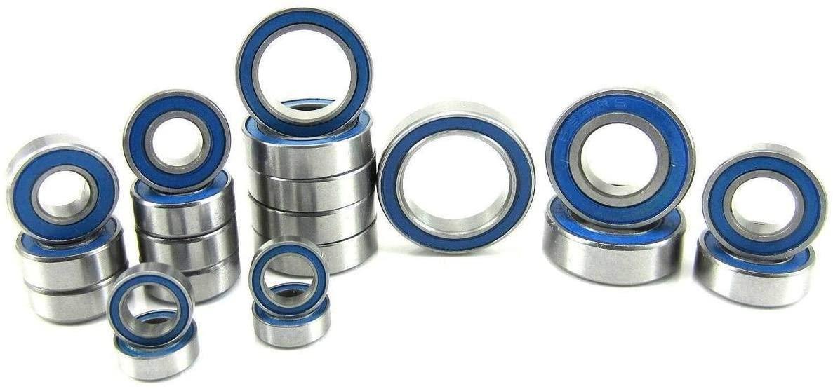 Traxxas Slash 4x4 VXL ABEC 3 Precision Ball Bearing Kit BU (21) Rubber Seals