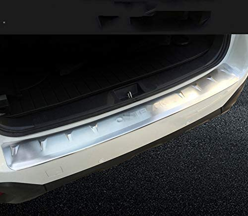 Chebay 1Pc Fits for Subaru Outback 2015 2016 2017 2018 2019 Rear Door Bumper Plate Cover Bar Sill Trim Protector Silver Outside