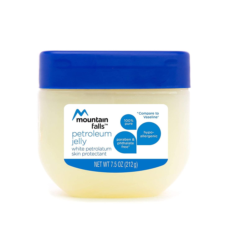 Mountain Falls Petroleum Jelly Skin Protectant, White Petrolatum , Compare to Vaseline, 7.5 Ounce