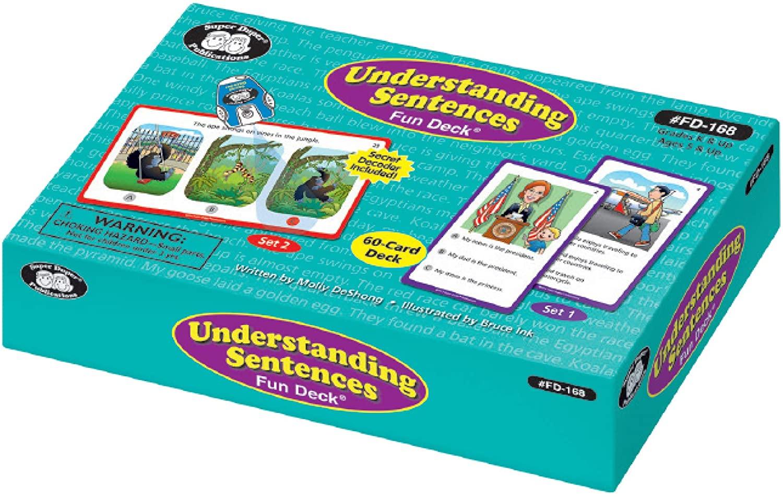 Super Duper Publications | Understanding Sentences Fun Deck with Secret Decoder | Educational Learning Resource for Children