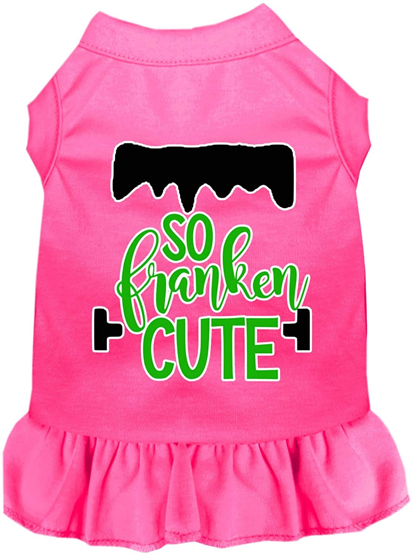 Mirage Pet Product So Franken Cute Screen Print Dog Dress Bright Pink 4X