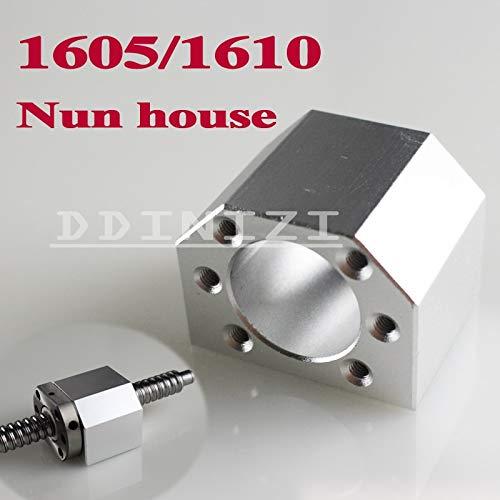 Ochoos 1pcs SFU1605 SFU1610 Ballscrew Nut Housing Aluminium Mounting Bracket for CNC Ballscrew Ballnut