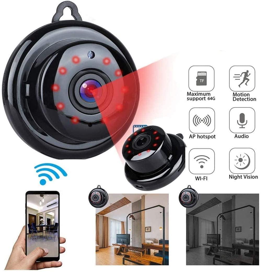 NXowzf Mini 1080P WiFi IP Camera IR Night Wireless Security Camcorder