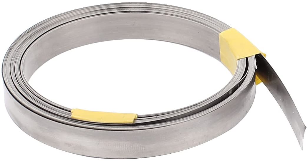 uxcell 5M 16.4Ft 0.15x8mm Nichrome Flat Heater Wire for Heating Elements