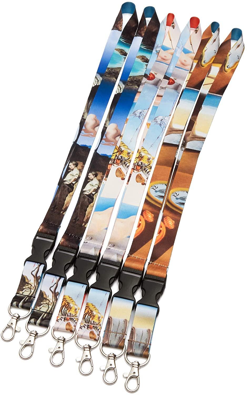 Salvador Dali Lanyard with Clip (6 Pack)