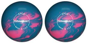 EPCO Candlepin Bowling Ball- Marbleized - Light Blue & Pink - 2 Balls