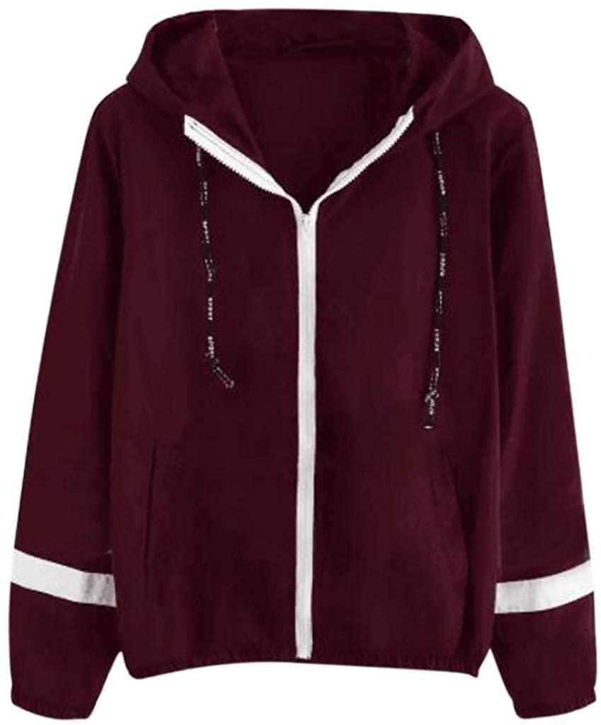 terbklf Fashion Women A Cross Print Lantern Sleeve Zipper Hooded Sweatshirt Top Blouse