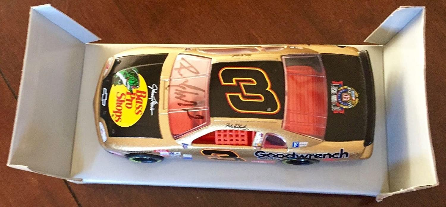 1998 Richard Childress Signed Dale Earnhardt Sr Bass Pro Shops 1/24 Car #3 - Autographed Diecast Cars