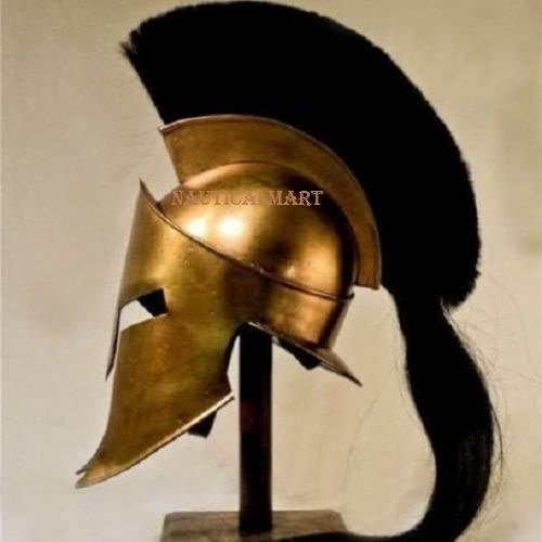 NauticalMart Medieval 300 Movie Spartan King Helmet with Plume