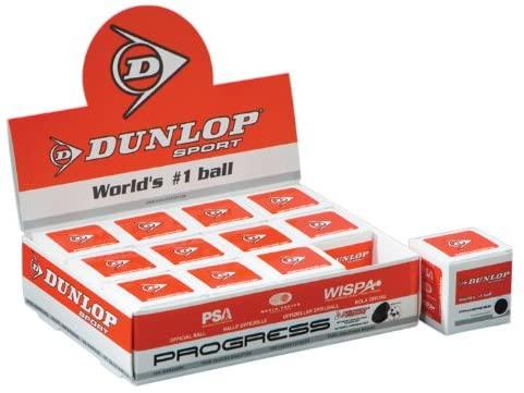 Dunlop Sports Max Progress Squash Ball (Dozen Pack)