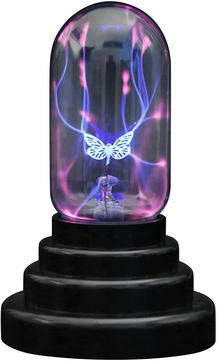 CozyCabin Butterfly Plasma Ball Light, Magic Thunder Lightning Plug-in Touch Sensitive - USB Powered for Parties, Decorations, Kids, Bedroom, Home