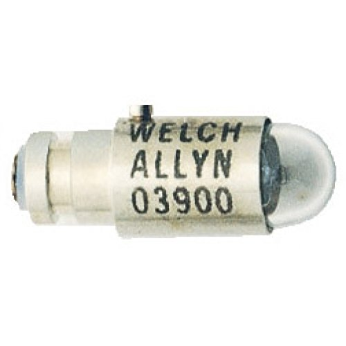 Welch Allyn 03900-U Replacement Halogen Lamp for 11110, 12810 and 13000 Pocket Scope Ophthalmoscopes, 2.5V
