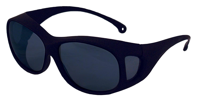 KLEENGUARD OTG Safety Glasses (20747), Fits Over Readers, Smoke Anti-Fog Lenses, Brown Frame, 12 Pairs