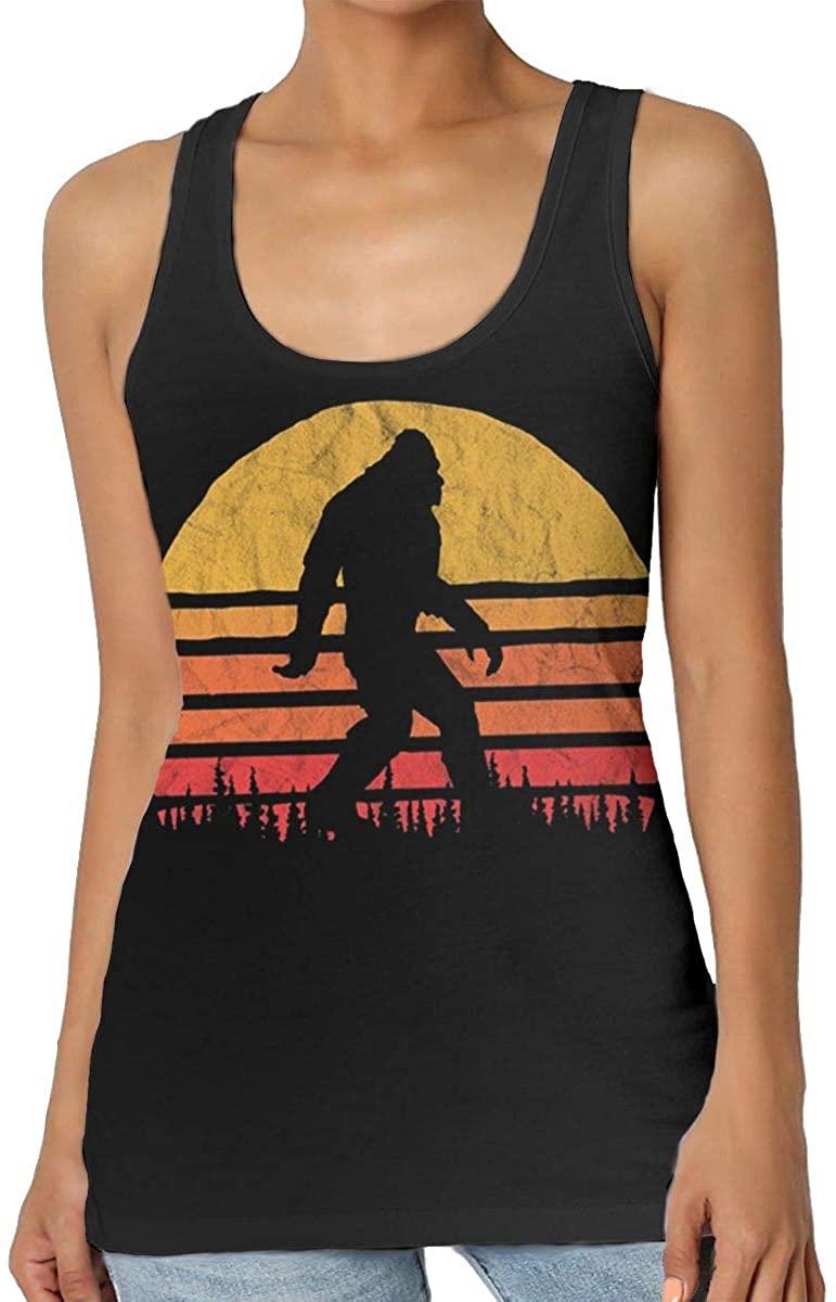 Sunset Bigfoot Womens Tank Top T-Shirt Cool Sleeveless Vest