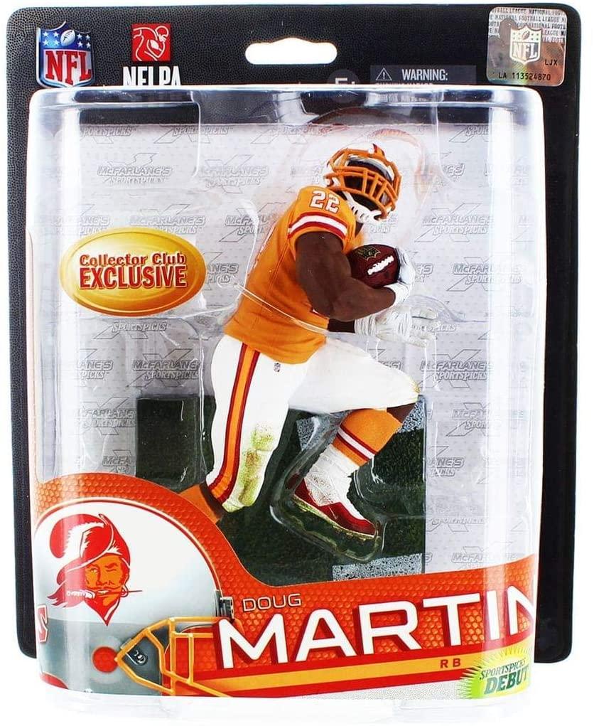 McFarlane Toys NFL Sports Picks Series 33 Collectors Club Exclusive Action Figure Doug Martin (Tampa Bay Buccaneers) Orange Retro Uniform