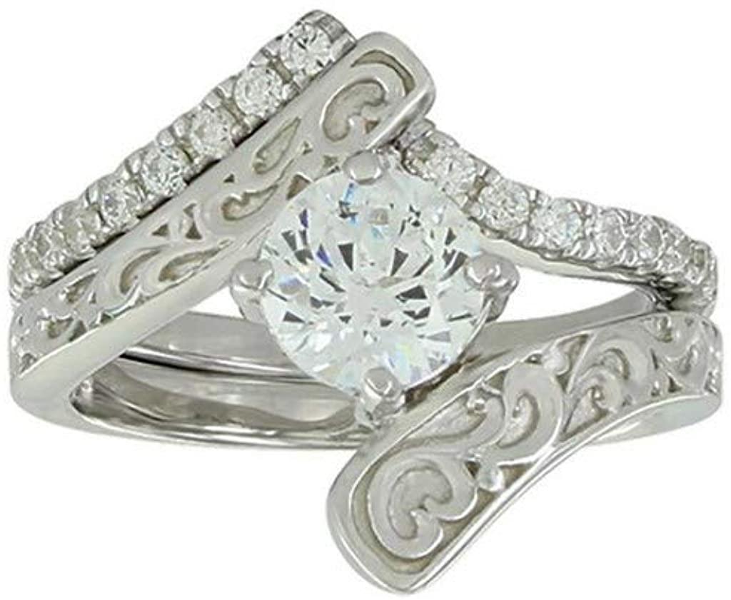 Montana Silversmiths Ring Womens Engagement Wedding 7 Silver SLRG052