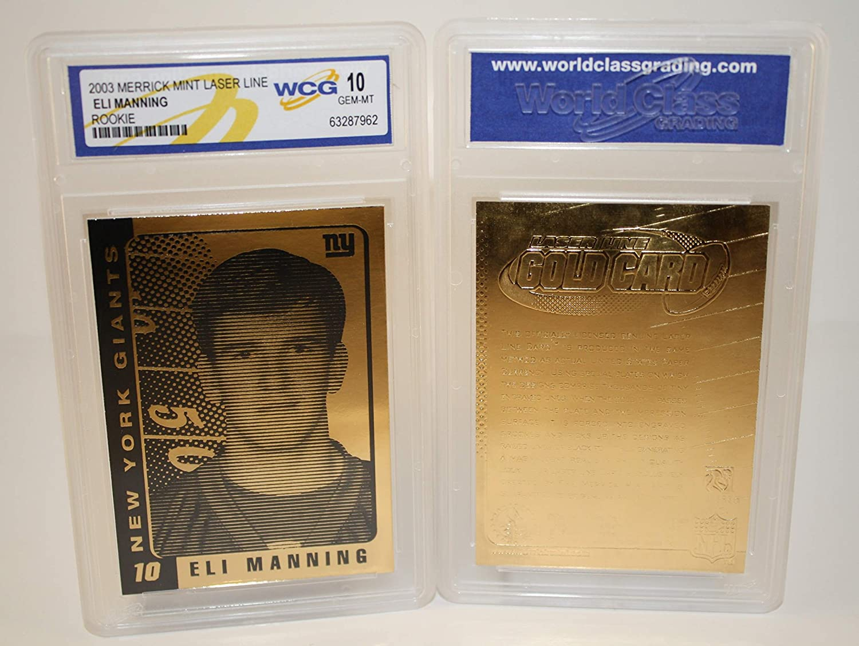 ELI MANNING 2003 Laser Line Gold Card NFL Limited Edition - Graded GEM MINT 10