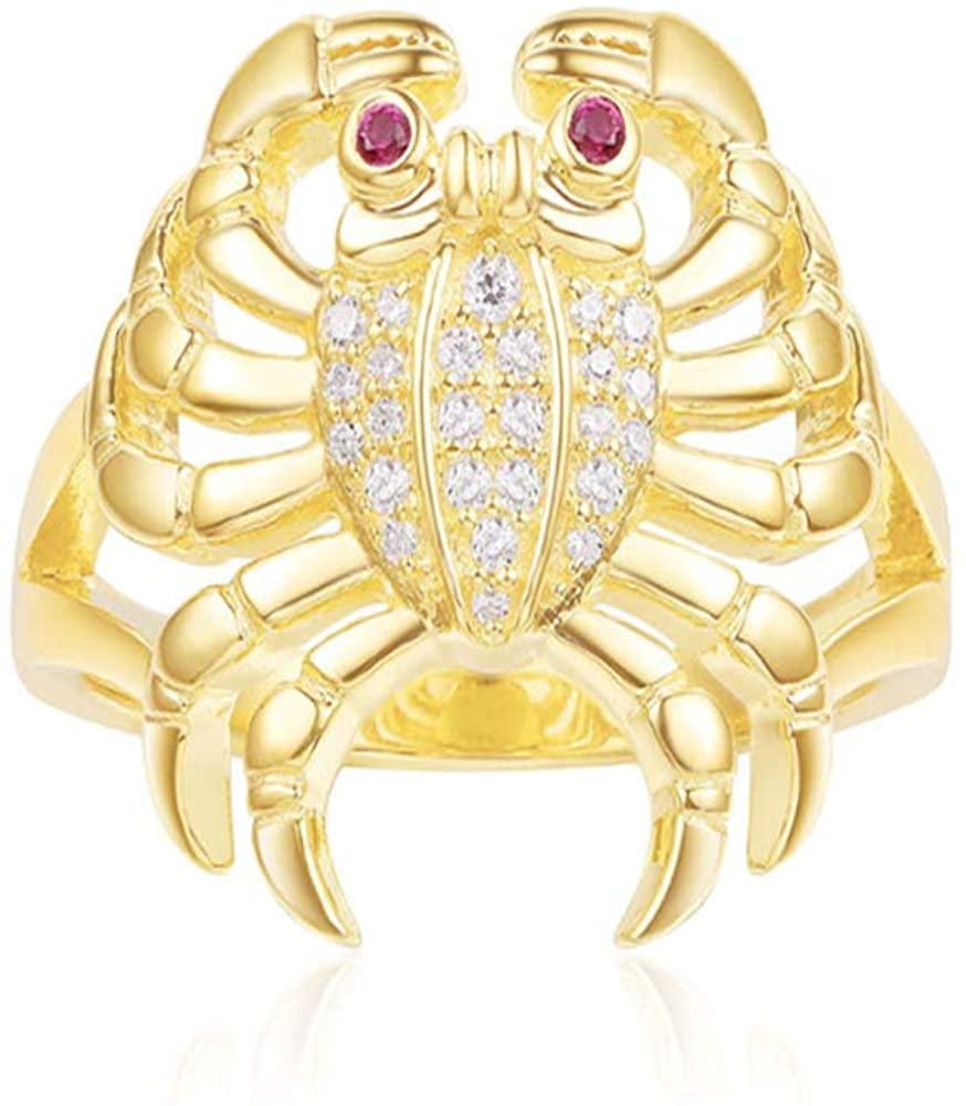 EJjewelry Tailored for Women Yellow Silver Sea Crab Ring apm/Monaco