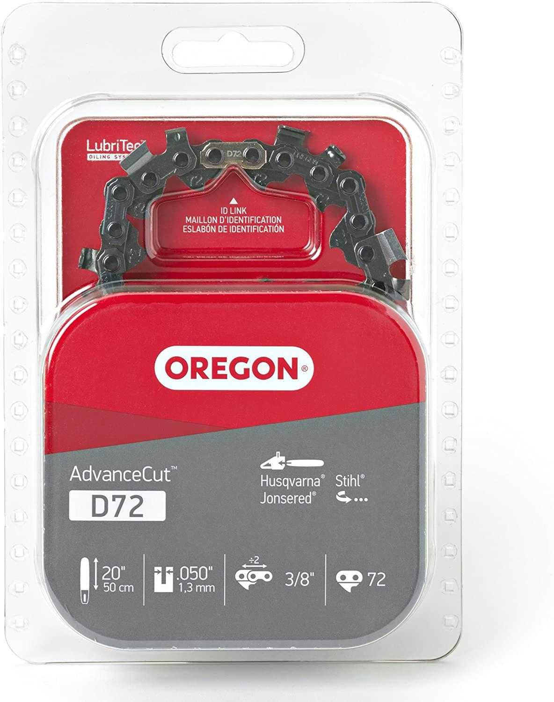 Oregon D72 AdvanceCut 20-Inch Chainsaw Chain, Fits Husqvarna, Makita, Stihl and others