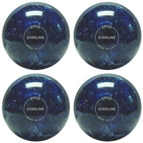 EPCO Duckpin Bowling Ball- Starline - Blue & Pearl - 4 Balls