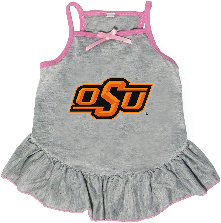 Littlearth NCAA Oklahoma State Cowboys Pet Dress, Extra Small