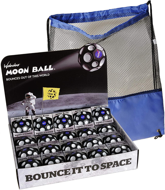 Waboba NASA Moon Balls, Extreme Bounce, Bundle of 20, Blue Nylon-Black Mesh Pack, Bundled Items