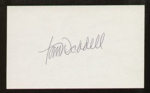 Tom Waddell signed autograph 3x5 index card B3841